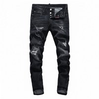 2021 Neue Casual mens designer jeans Slim dsquared Hip Hop Denim mens dsquared2 jeans