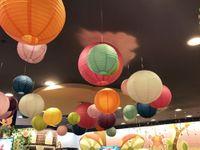1 шт. 4 дюйма круглой бумаги фонарь Свадьба и вечеринка Главная садовые рождественские украшения China Camponion 10 см поставляет 25 цветов рисунок от руки