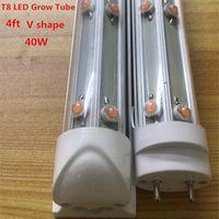 TUBE TUBE LED crescer luz 4ft espectro completo v em forma de flores interiores e vegetais planta hidropônica crescente 25 pcs / lote