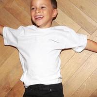 Çocuklar Moda T-Shirt Mektup Baskılı Erkek Kız T-Shirt Chidlren Unisex Sıcak Satış Kısa Kollu Tops Tees Katı Renk Beyaz Renk