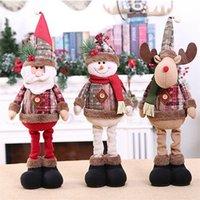 Растяжение кукол Снеговик Санта-Клаус Счастливого Рождества Декор для дома 2020 Рождественский орнамент Natal подарок Рождественские Декор Новый год 2021 LJ201217