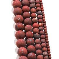 1strand الكثير الحجر الطبيعي ممل البولندية ماتي الأحمر بحي جاسبرز حبة جولة جوهرة فضفاض فاصل الخرز للمجوهرات صنع اللوازم h jlldci