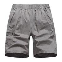 Homens de verão Casual Carga Shorts Algodão Moda Knee Comprimento Shorts Masculina Cor Sólida Lazer Streetwear