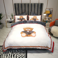 Quente Salinger Designer conjuntos de cama de edredão Bear beated bed edredons Capa 4 pcs travesseiro casos cama queen size