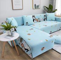 Cover di divano Set divano Geometric Cover Cover Elastico Divano per soggiorni Animali Angolo L a forma di Longue a forma di Longue SFGUT
