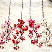 Artificiale Long Branch Plum Blossom di simulazione di seta color pesca Per sposa l'accessorio Home Office Decor