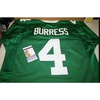Seltene Männer Michigan State Spartans Plaxico Burress # 4 Nähte grüne Vollstickerei-Jersey-Größe S-4XL oder benutzerdefinierte Name oder Nummer Jersey