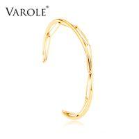 الفارول خط تصميم سلسلة الكفة أساور للنساء الملحقات الذهب اللون بسيط الحد الأدنى أساور الأزياء والمجوهرات بالجملة
