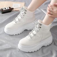 Goedkope damesschoenen 2019 tij Koreaanse versie van casual schoenen dikke-opgezette papa schoenen vrouwen zuivere kleur