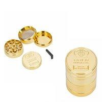 Golden Metal Grinder Nuovo modello con 4 strati di oro moneta modello accessorio fumo manuale smerigliatrice fumo WY991