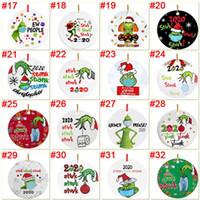 Grinch cuarentena de Navidad del ornamento de Navidad Ornamentos colgantes Personalizar para el árbol de navidad de la decoración El uso de diseñador de la máscara 2020 A mi hija