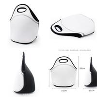Sublimation Leerer Wärmedämmboxen Wasserdichte phreatisches Material Weißes Haus Picknick Cartoon Lunch-Taschen Tragbare Schwarz 8 55DQ M2