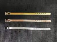 Braccialetto in acciaio inox cinturino in acciaio inox cinturino classico Europeo e American Fashion Silk Mesh Belt Fibbia in acciaio in titanio Braccialetto in acciaio