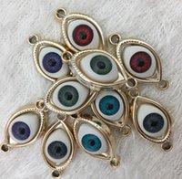 Ellipse tropft Öl CCB Türkei engel böse blaue augen charme perlen gold größe 30.5x15x8mm fit armband halskette schlüsselanhänger ohrringe