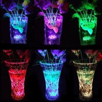 5050 SMD 10 LED Lámpara de vela sumergible Sumergible Control remoto Multicolor Floral Base Base impermeable Luz de Boda Fiesta de cumpleaños Decoración