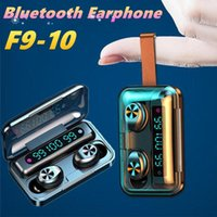 F9-10 F9 10 TWS Bluetooth Earphone Wireless Headphones With Lanyard Microphone Sports Waterproof Headsets Earbuds For Android Earphones MQ20