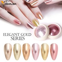 Venalisa Yeni Tırnak Manikür Ayna Glitter Toz Metalik Renk Nail Art UV Jel Parlatma Krom Gevreği Pigment Toz Süslemeleri