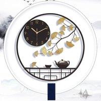 Wanduhren Hoshine 2021 Produkt Chinesisch Traditionelles Metalluhr Große Uhr Klok Home Decoration Saat Antike Stil Horloge