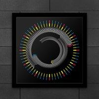 الجدة الزمن خشبي الإطار مربع الجدول ساعة الدورية لوحة السهام الملونة ساعة الحائط الحديثة تصميم سطح المكتب جرافيك الفن ساعة 201118