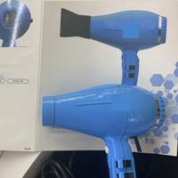 브랜드 디자이너 이탈리아 새로운 라이트 공기 이온이기 헤어 드라이어 블루 EU 플러그 2250 와트 3 미터 케이블 및 2 개의 집중 장치 노즐