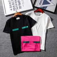 Sıcak Klasik erkek Katı T-Shirt İtalya Tasarlanmış Kısa Kollu Hızlı Kuru T Gömlek Moda Spor Jersey Tees Tshirt Siyah Beyaz