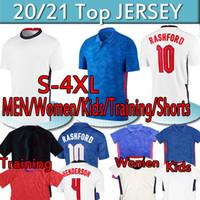 England soccer jersey European 2020 2021 National Team League Kane Cup Jerseys de fútbol Rashford Dele Sterling Home White White Mout Football Men 4XL
