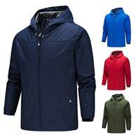 2021 Novos Jaquetas de Outdoor Mens Com Capuz Sólidos Jaqueta Com Capuz Plus Size 5XL Outono Windrunner Wholesale Windbreaker Jackets