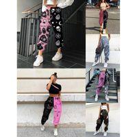 Женщины Leggings Designer 2020 Улица Граффити Печатная утолщенная Эластичная талия Широкие Брюки Брюки Сфальники Дамы Свободные Брюки Плюс Размер S-4XL