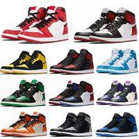 1shoesBasketballShoescores sapatos de alta Travis Scotts Obsidian Mens Basketball Spiderman UNC 1s top 3 Banned Toe Bred sapatilhas do desenhista do
