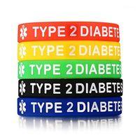 Ténis 1 Pc Grandeza Esperança Esporte Motivacional Tipo 2 Diabetes Pulseira Alerta de Silicone ID Pulseiras para Homens Mulher1