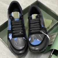 أعلى جودة rockrunner التمويه أحذية رياضية الرجال حقيقي الجلود المدربين شقة مصمم التمويه الدانتيل متابعة منصة السببية الأحذية هدية مربع 264
