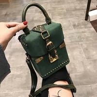 Perçin Çanta 2020 Kare Kadın Çantası Tasarımcı Omuz Messenger Çanta Kutusu Paketi Kare Bayanlar El Çantası Çanta