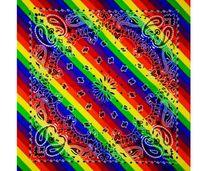 55 * 55cm Novidade Arco-íris Imprimir Paisley Bandanas Ao Ar Livre Andar Algodão Bandans Magic Anti-UV Headband Hip Hop Multifuncional HeadCarf 120 PCS