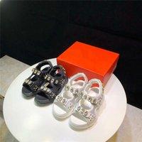 Sandales Chueyz Filles Enfants blancs Chaussures d'été Enfants pour une véritable boucle en cuir Princess