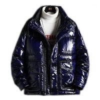 Menne Mens Veste d'hiver 90% Blanc Duck Down Down Tarif Hommes Veste PU Revêtement Hommes Mode Haute qualité Capuchon1