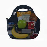 Byggd gourmetresa mjuk neopren lunch tote bag - lätt, isolerad och återanvändbar, en storlek, svart