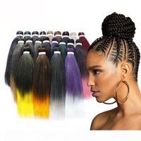 20-дюймовый 5 пакетов горячие продажи плетеные волосы оммре цветы джембо плетеные волосы ткачество синтетические легко плетеные волосы # 1b