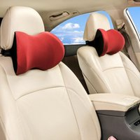 Car Headrest Neck Pillow For Seat Chair In Auto Memory Foam Cotton Mesh Cushion Fabric Cover Soft Head Rest Travel Support