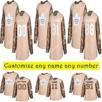 Camo Vétérans Day Pratique Toronto Maple Leafs Jerseys Tavares Marner Gilmour Hyman Personnalisez n'importe quel numéro N'importe quel nom Nom Nom Jersey de hockey authentique