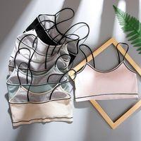 Bras Safenh Mujeres Japonés Lencería Sujetador de algodón Tornillo delgado Hilo Push Up Beauty Back Damas Confort Ropa interior para mujer