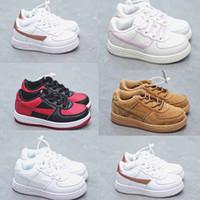 Bebek Bebek Toddlers Fouth 1 Yelken Çocuk Koşu Ayakkabıları Buğday Kahverengi Atletik Sneaker Üçlü Beyaz Trianers Erkek Kız Spor Kaykay Daireler