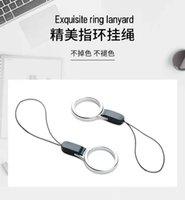 Handy Lanyard Ringschnalle abnehmbare Anhänger Kurzkette Kreative Persönlichkeit Fingerring Lanyard Schlüsselanhänger