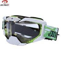 Jiepolly велосипедные солнцезащитные очки Motocross от Road MX Goggles Dirt Pit Bike Шлем Совместимость GOOGGLE MASK Горный велосипед Очки J1224