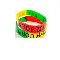 Impression Bob Marley Bracelet en silicone Élasticité Large caoutchouc Bracelets Hommes Femme Cuff Bijoux Mode Accessoires Cadeaux