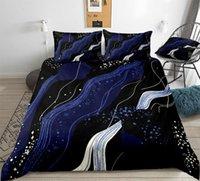 Ensembles de literie Galaxy Blue Dark Blue Duvet couverture Set Reine King Illusion Reality Quilt pour les adolescents enfants Drop Ship