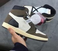 Melhor novo 1 alto OG Verde Brown Baw Men Basquetebol Sapatos Esportes Sneakers Treinadores Top Quality Tamanho 4-13
