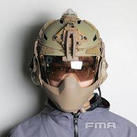 2020 FMA Casco táctico Gafas 3mm Borde Border Viper Visor Anti Niebla gruesa Claro / Negro / Plata Lentes TB13611