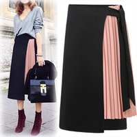 Summer Midi Falda femenina talla grande falda plisada para mujeres Faldas MUJER MODA 2021 Otoño Largo Asimétrico Jupe Femme