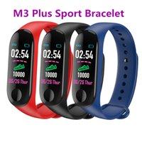 M3 plus Smart Armbands Herzfrequenz Blutdruck Gesundheit Wasserdichte Smartuhren Bluetooth Uhr Armband MI Band 3 Smart Armband