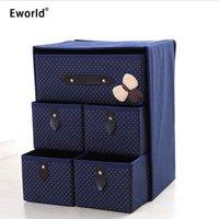 Eworld 3layer 5Drawer нижнее белье бюстгальтер организатор для хранения ящик для хранения шкаф Классифицированные подсветки организаторы для нижнего белья Scarf Socks Y200111